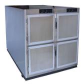 Image of 4-door mortuary fridge